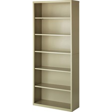LLR 41293 Lorell Fortress Series Putty Steel Bookcases LLR41293