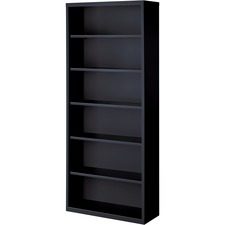 LLR 41294 Lorell Fortress Series Black Steel Bookcases LLR41294