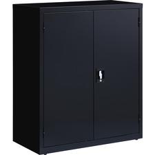 LLR 41305 Lorell Fortress Steel Black Storage Cabinet LLR41305