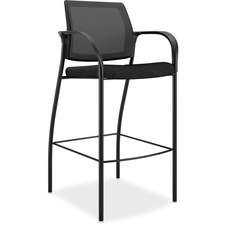 HON IC108NT10 HON Ignition Series Mesh Back Café Height Stool HONIC108NT10