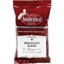 PapaNicholas Coffee Breakfast Blend Coffee - Regular - Arabica Bean, Breakfast Blend - Medium - 1 Carton