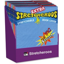 CLI Extra Stretcheroos Book Cover Display - Supports Book - Flexible, Stretchable - Fabric - Assorted