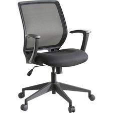 "Lorell Executive Mid-back Work Chair - Black Seat - 5-star Base - Black - 26"" Width x 27"" Depth x 40.8"" Height"