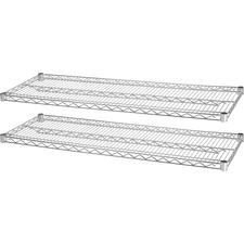 LLR 84186 Lorell Chrome Wire Shelving Unit Extra Shelves LLR84186