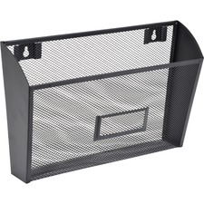 LLR 84144 Lorell Black Mesh Wire Wall Pocket LLR84144
