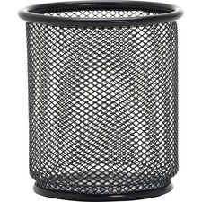 LLR 84149 Lorell Black Mesh/Wire Pencil Cup Holder LLR84149