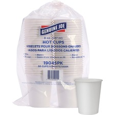 GJO 19045PK Genuine Joe Lined Disposable Hot Cups GJO19045PK