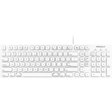 Macally 103 Key Full-Size USB Keyboard with Short-Cut Keys