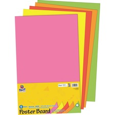 PAC 5444 Pacon Half-size Sheet Poster Board Set PAC5444