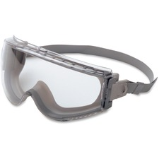 Uvex Safety Stealth Chemical Splash Safety Eyewear - Anti-fog, Ventilation, Scratch Resistant, Adjustable Headband, Comfortable - Ultraviolet Protection - Neoprene Band - Clear, Gray - 1 Each