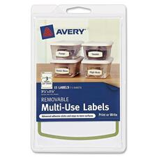 "Avery Removable Multi-Use Labels 41448, Green Border, 3-3/4"" x 1-5/8\"", Pack of 15 - 3.75\"" Width x 1.63\"" Length - 15 / Pack - 2/Sheet - Inkjet, Laser - Green"