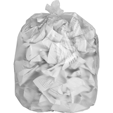 "Special Buy High-density Resin Trash Bags - Medium Size - 33 gal - 33"" Width x 39"" Length x 0.47 mil (12 Micron) Thickness - High Density - Clear - Resin - 500/Carton - Industrial Trash, Office Waste"