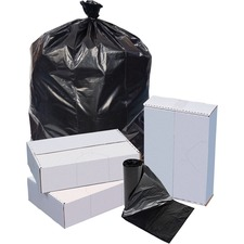 "Special Buy Heavy-duty Low-density Trash Bags - Extra Large Size - 60 gal - 38"" Width x 58"" Length x 1.10 mil (28 Micron) Thickness - Low Density - Black - 100/Carton"
