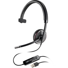 PLN BLKWIREC510 Plantronics C510 Over-the-head Corded USB Headset PLNBLKWIREC510