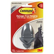 Command Graphite Double Hook