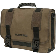 "Mobile Edge ECO Carrying Case (Messenger) for 15"" Notebook, MacBook Pro, Tablet, iPad, Ultrabook - Olive"
