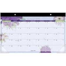 AAG PF5032 At-A-Glance Paper Flower Calendar Desk Pad AAGPF5032