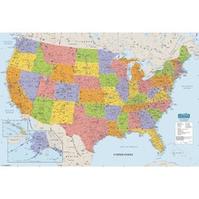 HOD 720 Doolittle Laminated United States Map HOD720