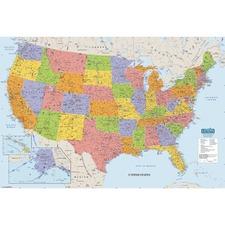 HOD 720 Doolittle Laminated United States Map HOD720