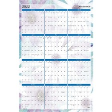 AAG PM83550 At-A-Glance Dreams Erasable Wall Planner AAGPM83550