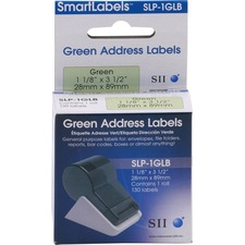 Seiko SLP-1GLB Green Address Labels, 130 Pack
