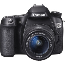 Canon EOS 70D 20.2 Megapixel Digital SLR Camera (Body with Lens Kit) - 18 mm - 55 mm