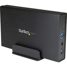 StarTech.com 3.5in Black USB 3.0 External SATA III Hard Drive Enclosure with UASP for SATA 6 Gbps - Portable External HDD