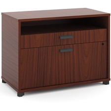 "HON Manage File Center, 30""W - 30"" x 16"" x 22"" - 2 x Pencil Drawer(s), File Drawer(s) - Band Edge - Material: Melamine Base - Finish: Chestnut, Laminate"