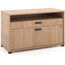 "basyx by HON Manage File Center - 36"" x 16"" x 22"" - 2 x Pencil Drawer(s), File Drawer(s) - Band Edge - Finish: Laminate, Wheat"