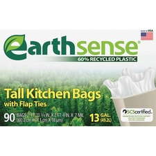 WBI GES6FK90 Webster Earth Sense 13-gal Tall Kitchen Bags WBIGES6FK90