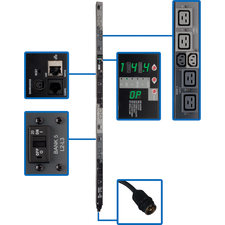 Tripp Lite Switched Rackmount PDU with Pre-Installed Mounting Buttons