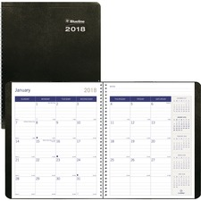 RED C23021T Rediform DuraGlobe Soft Cover Monthly Planner REDC23021T
