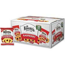 Knott's Raspberry Cookies - Raspberry - 1 Serving Bag - 2 oz - 36 / Carton