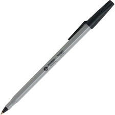 Business Source Bulk Pack Ballpoint Stick Pens - Medium Pen Point - Black - Tungsten Carbide Tip - 60 / Box