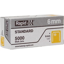 "RPD 23391100 Rapid R23 No.19 Fine Wire 1/4"" Staples RPD23391100"
