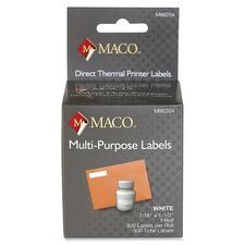 MAC M86204 Maco Direct Thermal Printer Labels MACM86204