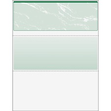 "DocuGard High Security Green Marble Business Checks with 11 Features to Prevent Fraud - Letter - 8 1/2"" x 11"" - 24 lb Basis Weight - Erasure Protection, Watermarked - 500 / Ream - Marble Green"
