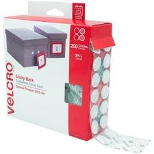 VEK 91824 VELCRO Brand Sticky Back Round Coin Tape VEK91824