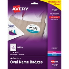 AVE 5326 Avery Adhesive Name Badges AVE5326