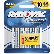 RAY 8246HEF Rayovac Advanced High Energy AAA Batteries  RAY8246HEF
