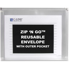CLI 48117 C-Line Zip 'N Go Zippered Expanding Poly Pockets CLI48117