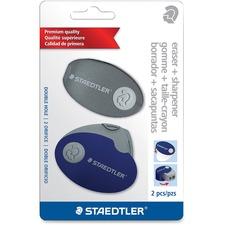 STD 525PS2SBK Staedtler Sharpener Case Eraser Set STD525PS2SBK