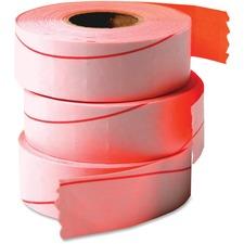COS 090945 Cosco Garvey 1-line Labeler Fluorescent Red Labels COS090945