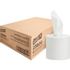 Genuine Joe Centerpull Paper Towels - 2 Ply - White - Fiber - Non-chlorine Bleached - 600 - 6 / Carton