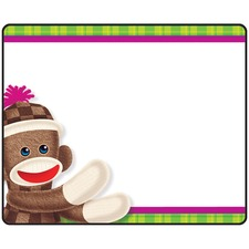 TEP T68088 Trend Sock Monkeys Coll. Self-adhes. Tag Labels TEPT68088