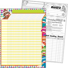 TEP T73375 Trend Sock Monkeys Coll. Large Incentive Chart TEPT73375
