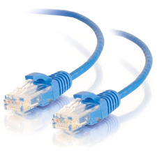C2G 3ft Cat6 Snagless Unshielded (UTP) Slim Network Patch Cable - Blue