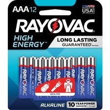 RAY 82412CF Rayovac Alkaline AAA Batteries RAY82412CF