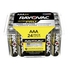 Rayovac Ultra Pro Alka AAA24 Batteries Storage Pak - AAA - Alkaline - 1.5 V DC - 24 / Pack