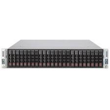 Supermicro 2027TR-D70RF+ 2U Twin Xeon E5 4XLGA2011 C602 RDIMM 2MPCIE 24SAS 2.5in 4GBE IPMI 1280W RE